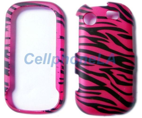 Samsung Messenger Touch R630 Pink Zebra Hard Case Cover