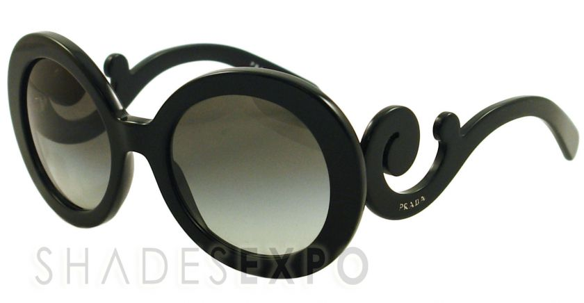 NEW Prada Sunglasses SPR 27N BLACK 1AB 3M1 SPR27N AUTH