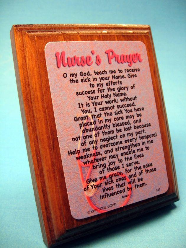 Nurses Prayer on Wall/Desk Wood Plaque   Sku# 547