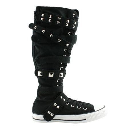 8475779c9462 CONVERSE~BUCKLE CHUCK~Knee High~BLACK~All Sizes~New