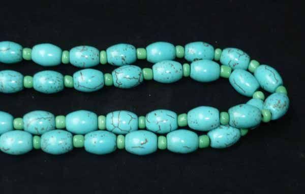 13 Tibet Tibetan Buddhist Turquoise Prayer Beads Mala