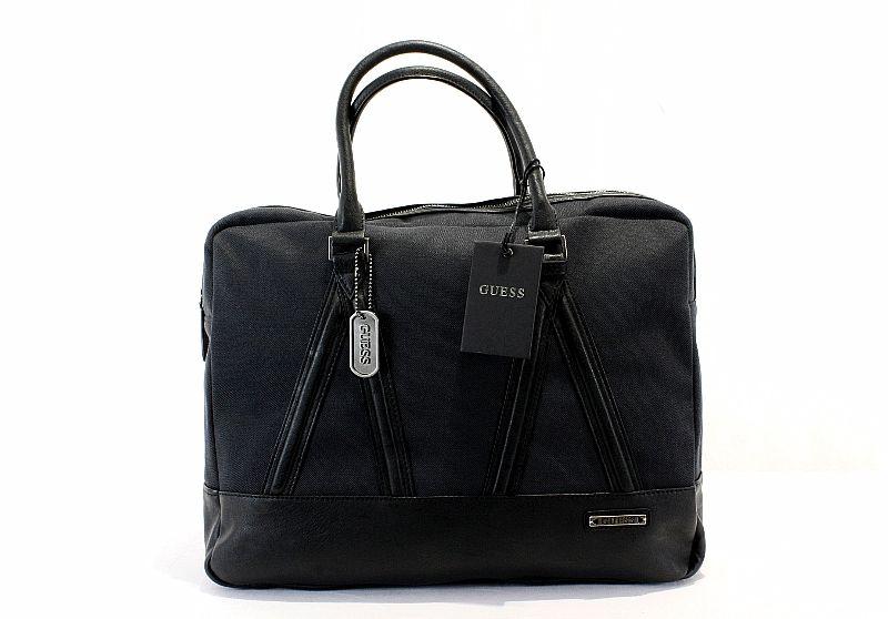 Guess Old Town LapTop Case Mens Black Messenger Bag CA307390