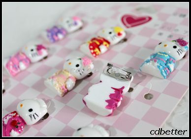 Game Party Lovely Sweet Mr. & Miss Hello Kitty Style Cute Cartoon Pins